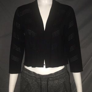 Black brand new, tags on cropped cardigan